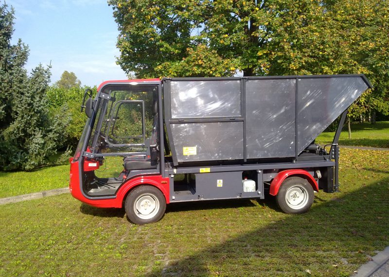 Gastone Waste tipping Electric Vehicle in red